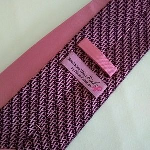 Diane Katzman Accessories - Diane  Katzman Tie Pink & Black OS
